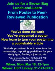 From poster to peer-review publication, a how-to workshop